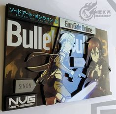 Sword Art Online Gun Gale Anime Wall Decor by MeekaStudio on Etsy