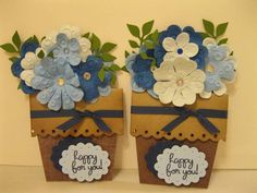 """Happy For You"" Flower Pots"