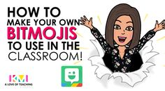 "This brings so much fun and personality into your classroom. I think this could be a fun ""first day"" activity for my students. I would like to make some bitmoji posters of me and then have them make some, and I could put them around my classroom! Teaching Technology, Technology Tools, Technology Design, Medical Technology, Teaching Music, Online Classroom, Google Classroom, Classroom Activities, Classroom Ideas"