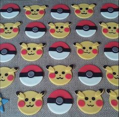This order is for  12 fondat toppers, 6 pokeball and 6 pikachu 2 approx. ALL TOPPERS ARE A CUSTOM MADE TO MATCH YOUR PARTY NEEDS, You can change the color!  You can also order any quantity other than this set contains.  Toppers will be shipped via USPS Priority Mail + tracking. Please order with a minimum of 2 weeks ahead of your event date. The order will be delivered a week before the event. How to maintain topper: store in a cool, dry place until ready to use. Make sure to keep away from…