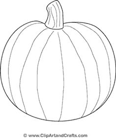 How to draw a pumpkin draw central journaling for Blank pumpkin coloring page