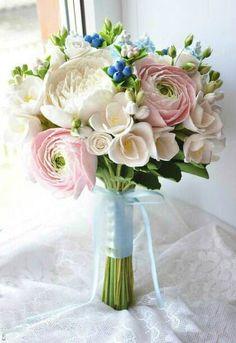 Bridal bouquet, shabby chic bridal, shabby bouquet, peony bouquet, wedding bouquet, bride bouquet, handmade flowers, bridesmaid fresia