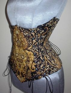 We call this design the Ornate Corset with good reason! The attention to detail is unparalleled, shining in shades of black, brown and tan. A fully lined underbust corset, this features flat and spiral steel boning. $129.99 http://www.pearsonsrenaissanceshoppe.com/ornate-bodice.html #corset #corsets #cinchers #victorianfashion #underbustcorset