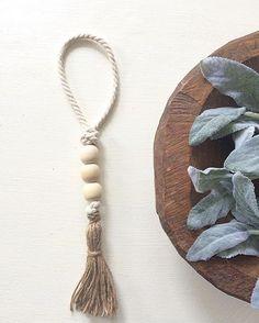 loop garland  wood bead garland tassel garland cord