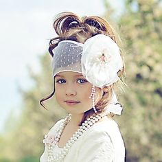 beautiful little girl and the hair piece was jus the icing on the cake My Baby Girl, Baby Love, 1 Girl, Girl Hair, Cute Outfits For Kids, Cute Kids, Bride Headband, Cute Headbands, Future Daughter