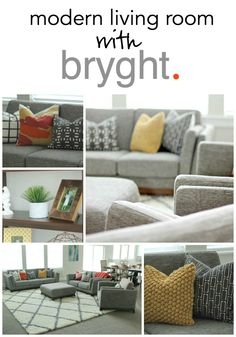 Living Room Reveal with Bryght.com