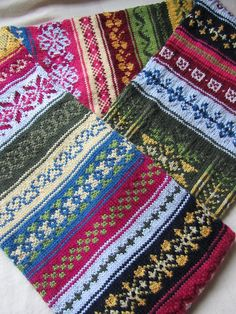 Fair Isle Sampler Scarf by Just-Do, via Flickr