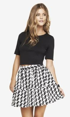 CROPPED ZIP BACK TEE from EXPRESS