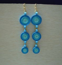 Long hanging earrings Hanging Earrings, Drop Earrings, Quilling, Jewelry, Craft, Ear Rings, Bedspreads, Jewlery, Jewels