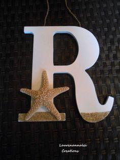 Wooden Letter - Starfish Decor - Beach House Decor - Starfish Wedding - Beach…