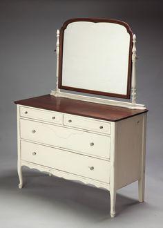 Linen White Painted Dresser Cottage Vintage Chic. $650.00, via Etsy.