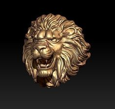 print model lion ring light cad diamond gold jewel, formats STL, ready for animation and other projects Cool Rings For Men, Lion Bracelet, King Ring, Arte Fashion, Wild Lion, 3d Printable Models, Gold Ring Designs, Animal Rings, Mens Silver Rings