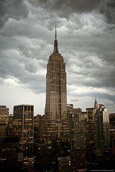 Storm over New York City by kriskoeller, via Flickr