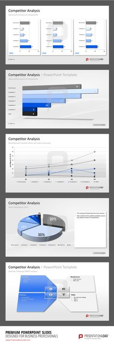 Gantt charts (bar charts) to visually display the planning of your