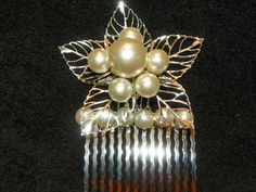 Unique Silver and Pearl Hair Comb by CathysCreationsPlus on Etsy, $20.00 + 2.50 shipping
