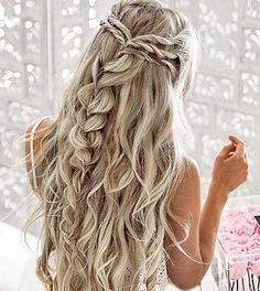 10 pretty braided hairstyles for the wedding - wedding hairstyles with long . - 10 pretty braided hairstyles for the wedding – wedding hairstyles with long hair – - Wedding Hair And Makeup, Hair Makeup, Makeup Hairstyle, Khaleesi Hairstyle, 2017 Hairstyle, Pretty Braided Hairstyles, Elegant Hairstyles, Hairstyles 2018, Gorgeous Hairstyles