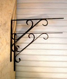 Vintage Over The Kitchen Sink Wrought Iron Shelf
