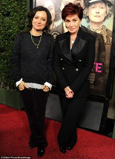 Supporting the cause: Sara Gilbert and Sharon Osbourne, co-host of The Talk on CBS, showed. Sara Gilbert, Sharon Osbourne, Post Baby Body, Carey Mulligan, Suffragette, Lilac Dress, New Moms, Girl Power, Fashion Inspiration
