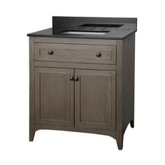 Westwood 31 in. Vanity in Driftwood with Granite Vanity Top in Black and White Basin-WWDVT3122D - The Home Depot