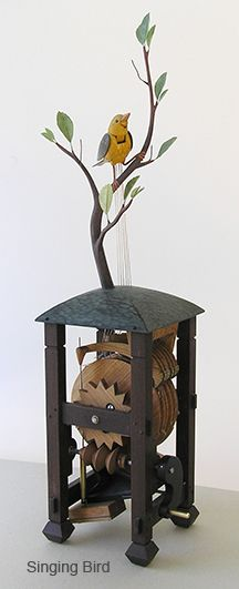 Each of the following automatons are individually handmade to order in Seattle, Washington. Each are hand carved from wood with brass & steel parts and painted with an historically formulated milk...