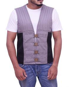 2017 The Dark Tower Roland Deschain / The Gunslinger Vest is made of cotton Check out: Idris Elba Dark Tower, Roland Deschain, The Dark Tower, Grey Vest, Leather Vest, Vest Jacket, The Darkest, Celebrity Style, Stylish