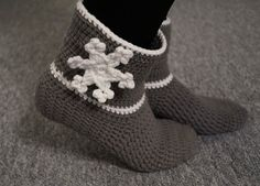 Warm and quickly crocheted house socks (size # crochet slippers quickly . - Warm and quickly crocheted house socks (size quick crochet warm and quick crochet - Quick Crochet, Free Crochet, Crochet Baby, Knit Crochet, Baby Knitting Patterns, Crochet Patterns, Date Photo, Patterned Socks, Crochet Slippers