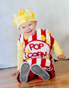 Kids Costume Childrens Costume Halloween Costume by TatersPlace Felt Popcorn Handmade Halloween Costumes, Halloween Bags, Toddler Halloween Costumes, Creative Costumes, Cute Costumes, Baby Costumes, Halloween Outfits, Halloween Clothes, Children Costumes