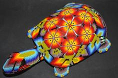 Huichol Art -- beads placed into beeswax, not strung on thread!