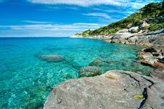 Playa de la Isla de Elba, Toscana.