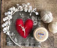 Pretty Valentine sewing by Julie Collings
