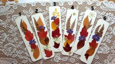 PRESSED AUTUMN LEAVES Bookmarks   Real Maine by MyHumbleJumble