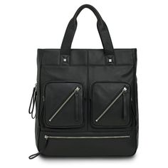 BODHI Expandable North South Tote in Black