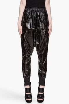 New Lyst - T By Alexander Wang Quilted Nylon Track Pants Black In Black