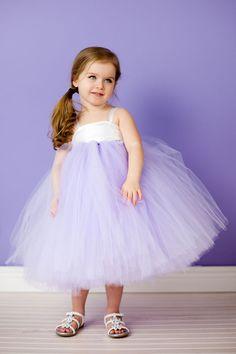 Flower Girl Tutu Dress in Fancy Frills. $90.00, via Etsy.