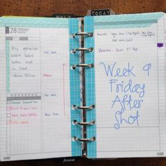 Week 9 Friday After Shot #filofax #diyfish #lifemapping #daytimer #franklincovey #paper #planning