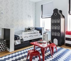@babyletto on Instagram: ⚡️🌃 big kid city dreams 💯 • #babyletto Lemonade Playset in Strawberry • 📷: designed by @sissyandmarley 🖤 #tbt