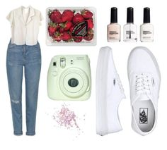 """Sin título #582"" by immoverthemoon on Polyvore featuring moda, Topshop, Vans, FRUIT, Fuji, H&M y agnès b."