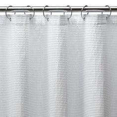 "Shower Curtain Long Waffle - White (72x84"")"