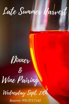 Join us this Wednesday Sept. 27th 2017 for a special Late Summer Harvest Dinner and Wine Pairing. This will be a remarkable evening exploring the wines of Cambria Winery with guest Grant Burrough from Jackson Estate. The wines will be exquisitely paired with locally sourced cuisine prepared by Chef De Cuisine Neal Drysdale who will showcase the products of Mountain Roots Produce LLC, Field To Plate and LB Meat Co-op. Hurry and reserve your seating today by calling Brooke Walters at… Durango Colorado, Downtown Hotels, Unique Hotels, History Museum, Late Summer, Wines, Alcoholic Drinks, Join, Plate