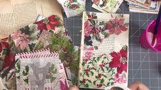 Making Christmas ephemera Journal Cards, Junk Journal, Journal Notebook, Journal Ideas, Christmas Holidays, Christmas Cards, Paper Art, Paper Crafts, Christmas Journal