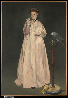 Édouard Manet, Young Lady in 1866. Oil on canvas. Metropolitan Museum of Art, New York.