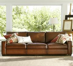 Turner Leather Sofa | Pottery Barn