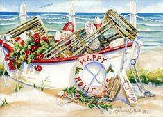 Beach Christmas Cards and Nautical Christmas Cards For 2020 - Beachfront Decor Tropical Christmas Ornaments, Coastal Christmas Decor, Nautical Christmas, Beach Christmas, Christmas Photo Cards, Christmas Design, Holiday Decor, Happy New Year Cards, Merry Christmas And Happy New Year
