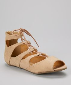 Taupe Lace-Up Larisa Sandal | Daily deals for moms, babies and kids