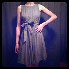 Selling this Calvin Klein tan pleated flattering dress in my Poshmark closet! My username is: forgetmeknaught. #shopmycloset #poshmark #fashion #shopping #style #forsale #Calvin Klein #Dresses & Skirts