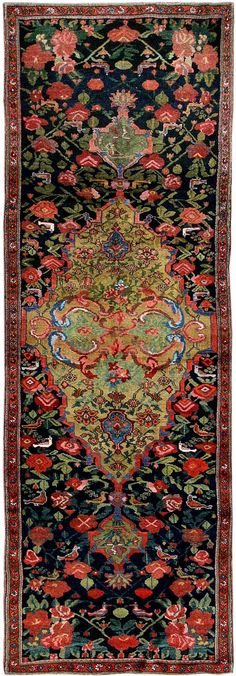 View this beautiful Antique Karabagh Runner Rug 43954 from Nazmiyal's fine antique rugs and decorative carpet collection in NYC.