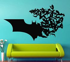 Batman Wall Vinyl Decal Batman Logo Vinyl Stickers Superheroes Decals Nursery Decor Home Decor (4bn) @ niftywarehouse.com