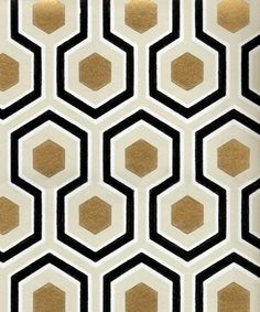 black gold bedroom hexagon / verde wallpaper/Fundraiser and Special Event Inspiration /Art Deco/fall Fundraiser Inspiration - Janel's post on the Honeycomb Vase yesterday reminded us of our love for this pattern and texture in design