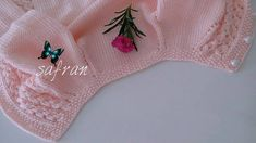 Pink Cardigan for our sweety girls. Knitting For Kids, Baby Knitting Patterns, Crochet For Kids, Crochet Baby, Knitted Coat, Knitted Bags, Baby Vest, Knitted Baby Blankets, Pink Cardigan