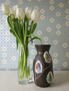 Vintage Ceramic Bay W-Germany Vase Kongo door Vantoen 1950s, Germany, Old Things, Hand Painted, Vase, Ceramics, Retro, Vintage, Design